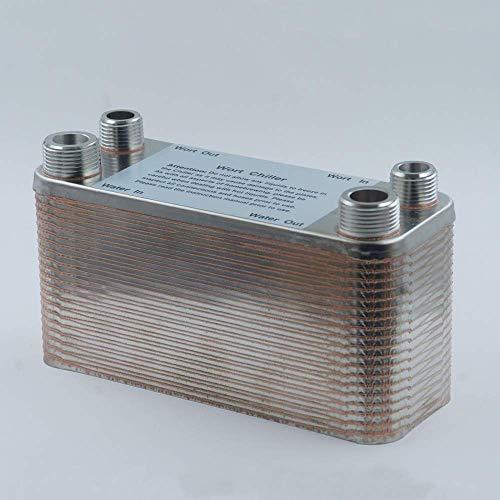 ytrew Tipo Wort Chiller, Intercambiador de calor de placas, Acero inoxidable 304, Enfriador de ciclo de fermentación de soldadura