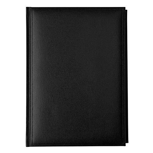 Idena 10903 - Buchkalender 2021, DIN A5, aus FSC-Mix, Balacron schwarz, 1 Stück