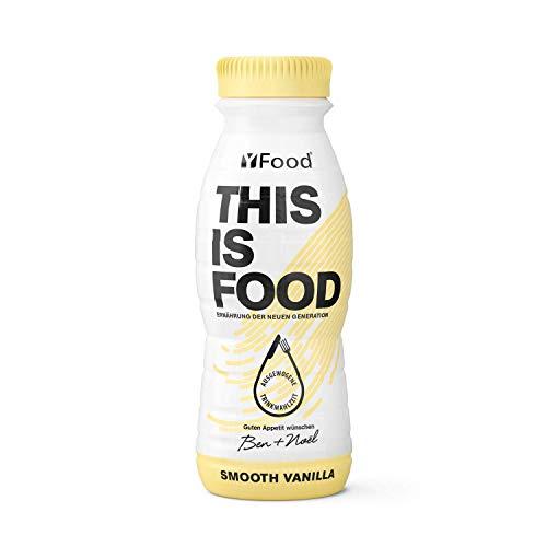YFood Vanille | Laktose- und glutenfreier Nahrungsersatz | 22g Protein, 26 Vitamine und Mineralstoffe | Leckere Astronautennahrung - 17% des Kalorienbedarfs | Trinkmahlzeit, 8 x 330 ml (1 kcal/ml)