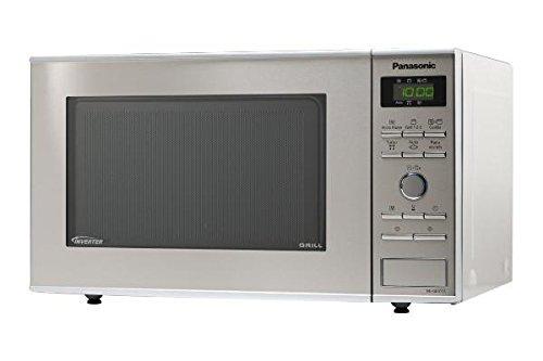 Panasonic Forno a Microonde Compatto con Grill, in Acciaio Inox, 23 l
