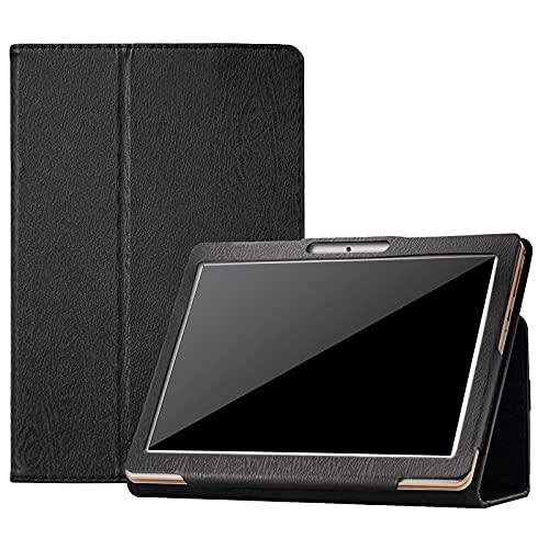 KATUMO Hülle für YOTOPT 10, TOSCIDO Tablet 10, ACEPAD A121/A140/A101, Victbing 10,Lnmbbs, Lenovo Android Tablet Universal 10 Zoll Hülle Leder Schutzhülle (Schwarz)