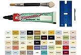 MY-B-Style - Juego de reparación de pasta esmaltada para baño, azulejos, cerámica, coche, madera, laminado, etc. en un práctico set con 8 ml de esmalte de elefante, espátula de plástico y pincel