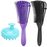 Detangling Brush for Natural& Curly Hair, Hair Detangler Comb for Afro 3A to 4C Kinky Wavy...