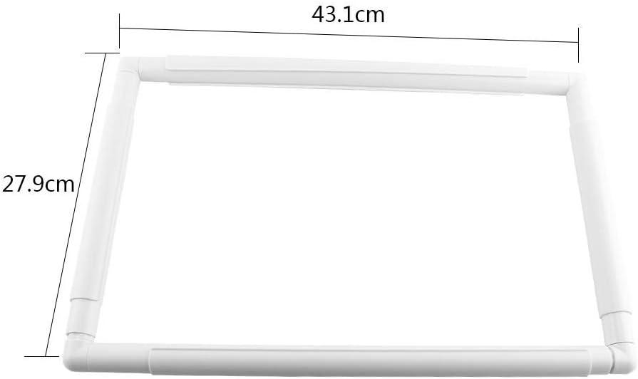 27.9 * 27.9cm Akozon Frame f/ür Kreuzstich Stickerei Frame Quilten Frame//Stickerei//Seidenmalerei//Quilten//Kreuzstich//Arbeit Square Rechteck Rahmen f/ür Stickerei Kreuzstich Quilten Werkzeug