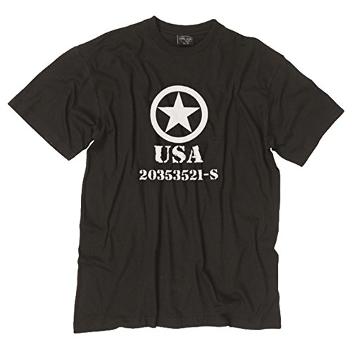 Tee Shirt USA Army - Noir