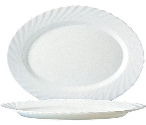 Arcoroc Trianon Uni Platte oval 35cm, 4 Stück