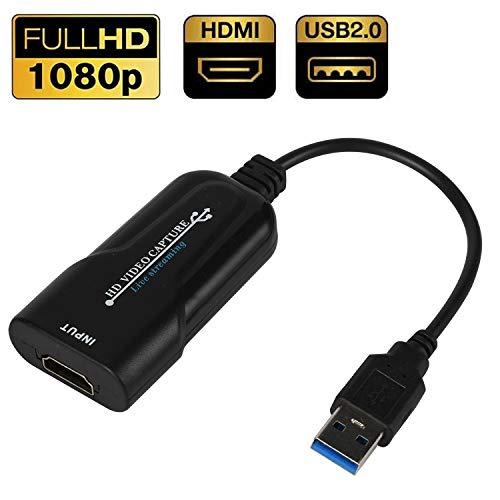Scheda di acquisizione video USB 2.0 HDMI Video HD 1080P Capture Box Streaming live per videocamera videocamera DVD Registrazione, registrazione Grabber grafico per giochi, streaming, insegnamento