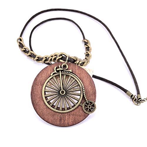 YUANCHENG Collar de Cadena de Cuerda Larga Vintage Antiguo Colgantes de Bicicleta...