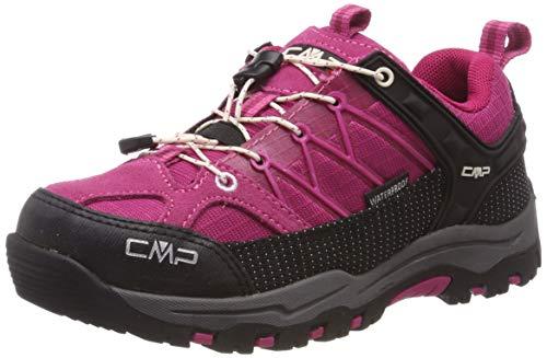 CMP Unisex-Kinder Kids Rigel Low Shoe Wp Trekking- & Wanderhalbschuhe, Pink (Geranio-Off White 10hc), 35 EU