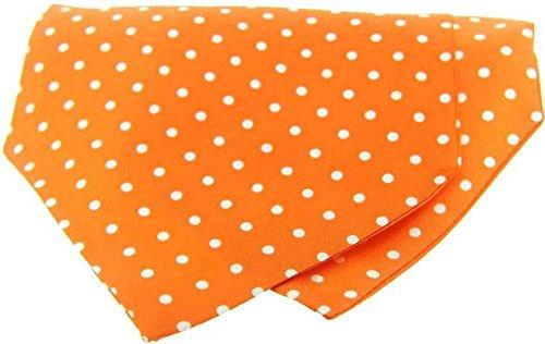David Van Hagen Orange/Blanc Polka Dot twill de soie Cravates de
