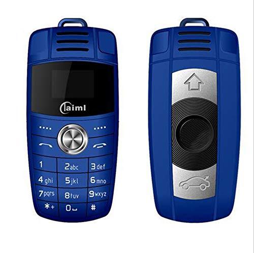 AZLMJXH Mini Phone, Keychain Telefon mit Dual-Karte Magic Voice Bluetooth Dialer Mp3 Recorder für Kinder-Unterstützung mehrerer Sprachen,1