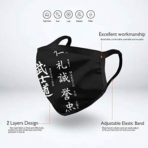 Mundschutz Gesichtssch Japanische Kanji Samurai Bushido.jpg Erwachsene Kinder Wiederverwendbare Grafiken Winddichte waschbare Nase - Abdeckung für Reisen