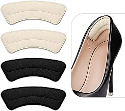 Heel Grips Liner, Comfortable Suede Heel Insert to Fit The Shoe, Prevent The Heel from Slipping Off Due to Oversized Shoes, 4 Pairs Heel Protector Pads