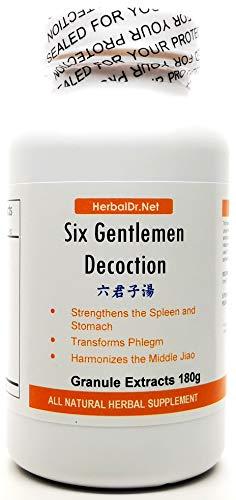 Six Gentlemen Decoction Extract Powder Tea 180g (Liu Jun Zi Tang) Ready-to-Drink 100% Natural Herbs