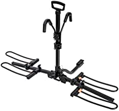 HYPERAX Hitch Mounted E Bike Rack Carrier for 2 inch/1.25-inch Receivers - Fits Up to 2 X 55 lbs Road Bikes, MTBs, e MTBs, E Bikes with Up to 3-inch Tires - Compatible with SUV, Trucks, Sedan