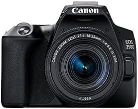 Canon EOS 250D - Cámara digital (24,1 MP, 6000 x 4000 Pixeles, CMOS, 4K Ultra HD, pantalla táctil) negro - kit con cuerpo y EF-S 18-55IS STM