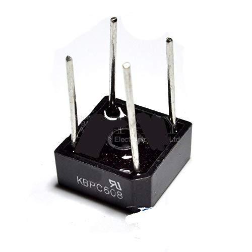 10PCS KBPC608 KBPC-608 6A 800V Single Phases Diode 4pin Bridge Rectifier New and Original IC