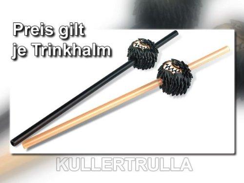 Bullyland 53301 - Die Wilden Kerle - Trinkhalm mit Wuschelkopf - Schwarz - Die Wilden Kerle