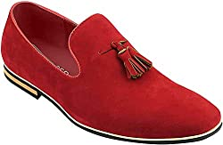 These Morden Loafers are Crafted from Smooth Faux Suede Leather Features Two Front Tassels, Almond Shaped Rounded Toe Design Lightly Cushioned Heels for Comfortable Wear Presented in Box with Dust Bag & Shoe Horn Available in 5 Colours - Check our St...