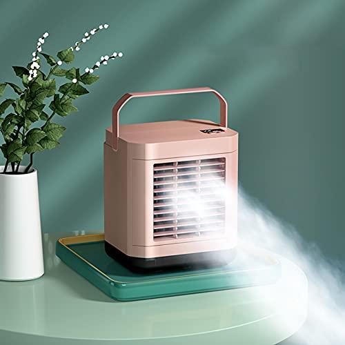 USB Desktop Ventola di Raffreddamento Ad Acqua Water, Condizionatore d'Aria Ricaricabile, Mini Portatile di Refrigerazione, Raffreddatore d'Aria Senza Foglie, Fan Mobile,Pink
