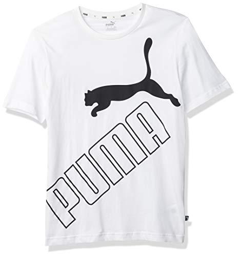 PUMA Big Logo Camisa, Blanco, XS para Hombre