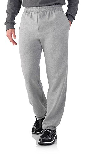 Fruit of the Loom Men's Elastic Bottom Sweatpants (M, Steel Grey)