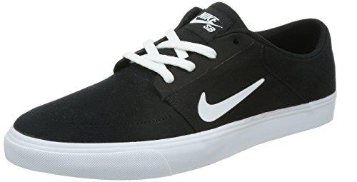 Nike Men's SB Portmore Cnvs Black/White Skate Shoe 8 Men US