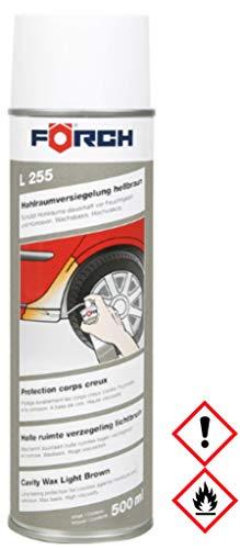 Sparpack ! 3 x 500ml Förch L255 HOHLRAUMVERSIEGELUNG Wachs-Spray, hochviskös, hellbraun,hochviskos, 3 Hohlraumlanzen 15cm Verpackung:EINWEG