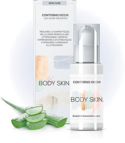 Body Skin - Siero Contorno Occhi Antirughe con Acido Laluronico - Idratante Anti Occhiaie e Borse Occhi - 30 ml