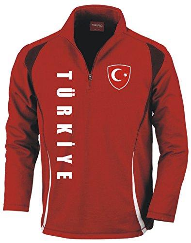 Aprom-Sports Türkei Trainingstop - Fussball Sport - Rot (M)