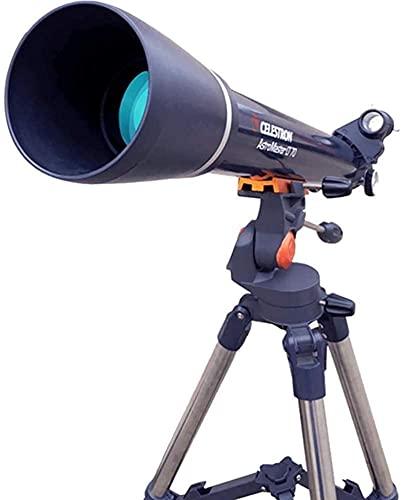 Telescopio portátil de 70 mm Aperture 700mm Monte Astronomía Telescopio Refractor, Alcance con trípode para niños y Principiantes para Hombres Mujeres