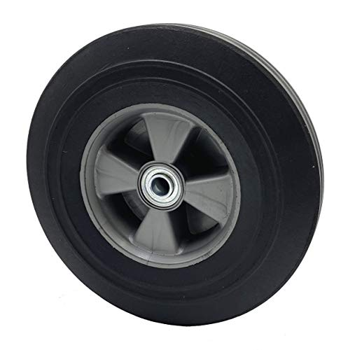 """Rocky Mountain Goods Solid Rubber Hand Truck Wheel 10'- 5/8"""" axle Size - Flat Free Solid Rubber Replacement tire for Hand Truck, cart, Power Washer, Dolly, Compressor - 660 lbs. Load (10"""")"""