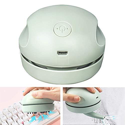 Desktop Vacuum Cleaner with Clean Brush Vacuum Nozzle, High Efficiency Detachable Mini Vacuum...