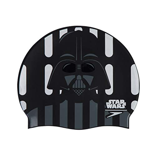 Speedo Gorro Estampado Star Wars Darth Vader natación, Adult Unisex, Negra, Talla única