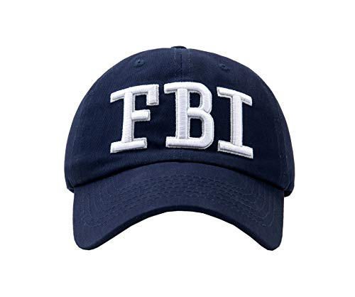 GEANBAYE 100% Cotton FBI Hats and Police Agent Hats for Men and Women