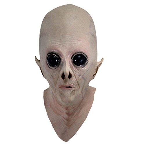 UFO Alien Tête réaliste masque en latex effrayant Costume Party cosplay Accessoires