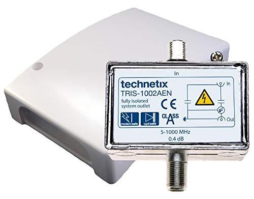 technetix Galvanisches Trennglied 5-1000 MHz, Überspannungsschutz Kabel-TV DVB-C / T2 HD inkl. Gehäuse