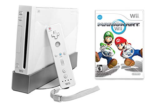 Wii Console with Mario Kart Wii Bundle - White (Renewed)