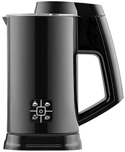 Espumador Leche Milk Frother Calentador De Leche Batidora Leche Espuma Calienta Leche Electrico Vaporizador automático de leche para hacer espuma fría y caliente 4 en 1 para café con leche, chocola