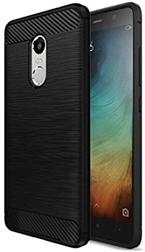 JGD PRODUCTS Carbon Fiber Armor Drop Tested Shock Proof TPU Back Case Cover For Redmi Note 4