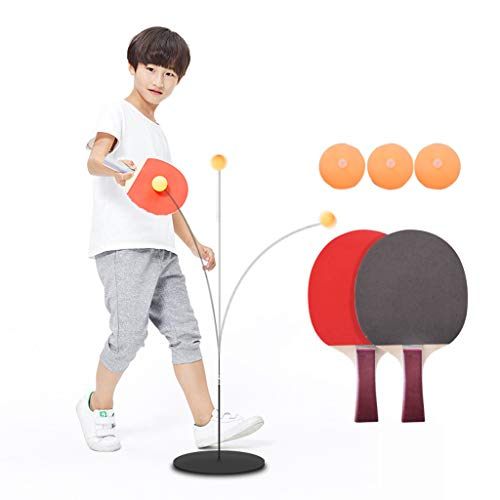 Read About PPTZ Single Table Tennis Trainer with Elastic Soft Shaft 2 Bats and 3 Balls Leisure Decompression Sports Reaction Ability for Beginners Children Adult Indoor Outdoor