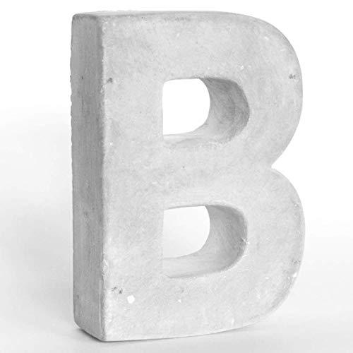 Alenio Individuelle Beton Deko Buchstaben Ihr Name in 3D Zement Home DIY Schriftzug Love Wohnzimmer Dekobuchstaben H15cm (B)