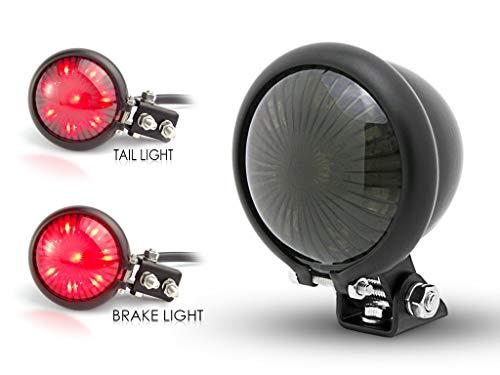 Moto LED Arrière Frein Stop Feu Arrière pour Rétro Vintage Personnalisé Projet - Noir Mat