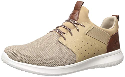 Skechers mens Classic Fit-delson-camden Sneaker, Light Brown, 11.5 US