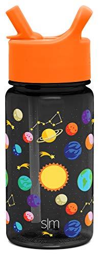 Simple Modern 16oz Summit Kids Tritan Water Bottle with Straw Lid for Toddler - Dishwasher Safe Travel Tumbler - Solar System