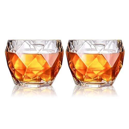 Vidrio Vasos De Whisky, Juego De 2, 11 Oz, Vasos De Whisky Premium, Vasos De Whisky Para Cócteles, Cristalería Antigua Para Beber