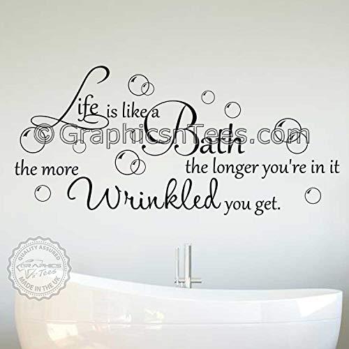 Pegatinas para pared de baño con texto 'Graphics 'n' Tees' (920 mm x 420 mm)