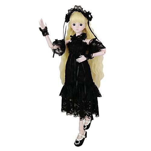 Blanche EVA BJD Set of Fashion Clothes Wigs Shoes Socks Accessories Full Set for 1//3 21-23inch 60cm BJD Dolls