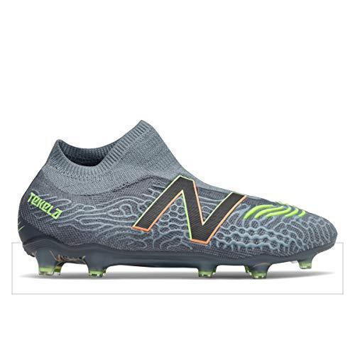 New Balance Men's Tekela V3 Pro FG Soccer Shoe, 11.0 M, Thunder/Bleached Lime Glo