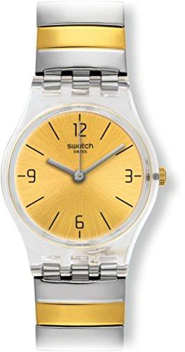 Swatch Damen Digital Quarz Uhr mit Edelstahl Armband LK351A